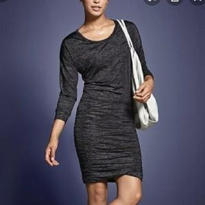 Athleta Black tulip long sleeve jersey dress M